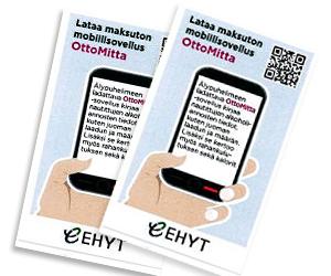 Käyntikorttikokoinen ohje OttoMitta-sovellukseen