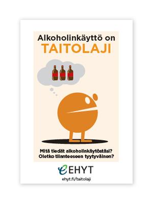 Alkoholinkäyttö on taitolaji -esite
